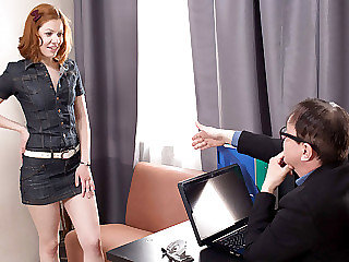Tess was horny so she went and made her tricky old teacher screw her